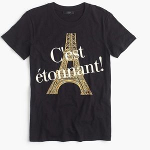 J. Crew Tops - J Crew French Graphic Tee Eiffel Tower